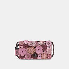 Picture of TEA ROSE APPLIQUE DINKY CROSSBODY IN LEATHER