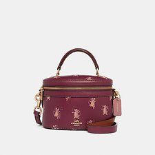 Image of Coach Australia GD/DARK BERRY TRAIL BAG WITH PARTY MOUSE PRINT