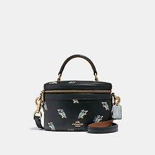 Image of Coach Australia GD/BLACK TRAIL BAG WITH PARTY OWL PRINT