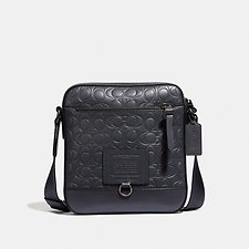 Image of Coach Australia JI/MIDNIGHT NAVY RIVINGTON CROSSBODY IN SIGNATURE LEATHER