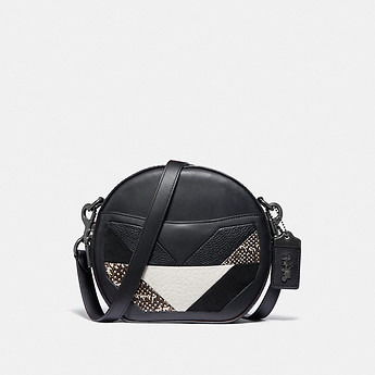 Image of Coach Australia  CANTEEN CROSSBODY WITH PATCHWORK AND SNAKESKIN DETAIL