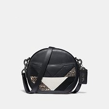 Image of Coach Australia V5/BLACK MULTI CANTEEN CROSSBODY WITH PATCHWORK AND SNAKESKIN DETAIL