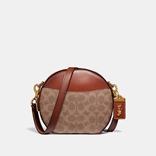 Image of Coach Australia B4/TAN RUST CANTEEN CROSSBODY IN SIGNATURE CANVAS