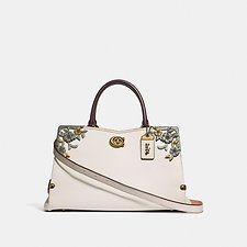 Image of Coach Australia B4/CHALK MASON CARRYALL WITH METAL TEA ROSE