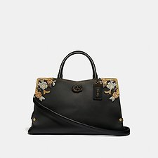 Image of Coach Australia V5/BLACK MASON CARRYALL WITH METAL TEA ROSE