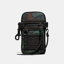 Image of Coach Australia GREEN/BLACK POUCH 9 IN CORDURA® FABRIC WITH LANDSCAPE PRINT