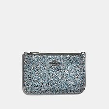 Image of Coach Australia GM/METALLIC GRAPHITE ZIP CARD CASE