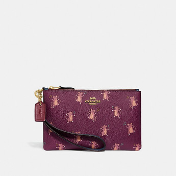 Image of Coach Australia  SMALL WRISTLET WITH PARTY MOUSE PRINT