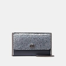 Image of Coach Australia GM/METALLIC GRAPHITE MARLOW TURNLOCK CHAIN CROSSBODY