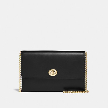 Image of Coach Australia  MARLOW TURNLOCK CHAIN CROSSBODY