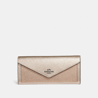 Image of Coach Australia  SOFT WALLET IN COLORBLOCK
