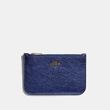 Image of Coach Australia GD/METALLIC BLUE ZIP CARD CASE