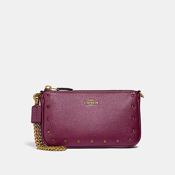 Image of Coach Australia  NOLITA WRISTLET 19 WITH CRYSTAL RIVETS