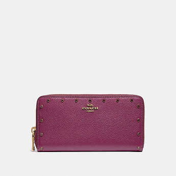 Image of Coach Australia  ACCORDION ZIP WALLET WITH CRYSTAL RIVETS