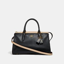 Image of Coach Australia GD/BLACK MULTI SELENA BOND BAG IN COLORBLOCK