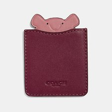 Image of Coach Australia DARK BERRY MOUSE PHONE POCKET STICKER