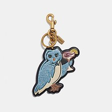 Image of Coach Australia LI/BLACK PARTY OWL BAG CHARM