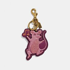 Image of Coach Australia B4/DARK BERRY PARTY MOUSE BAG CHARM