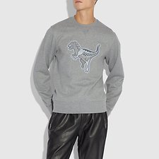 Image of Coach Australia HEATHER GREY REXY SWEATSHIRT