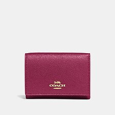 Image of Coach Australia GD/BRIGHT CHERRY SMALL FLAP WALLET