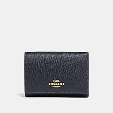 Image of Coach Australia GD/NAVY SMALL FLAP WALLET