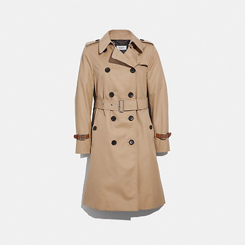 Image of Coach Australia  TRENCH WITH LEATHER BRACELET