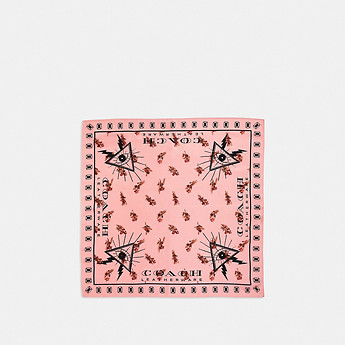 Image of Coach Australia  FLORAL PYRAMID EYE SILK BANDANA