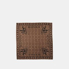 Image of Coach Australia KHAKI/BLACK SIGNATURE PYRAMID EYE SILK BANDANA