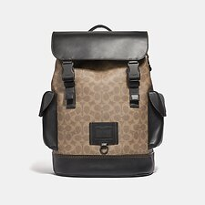 Image of Coach Australia JI/KHAKI RIVINGTON BACKPACK IN SIGNATURE CANVAS