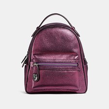 Image of Coach Australia GM/METALLIC BERRY CAMPUS BACKPACK 23