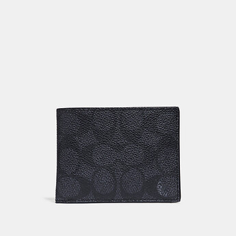 Image of Coach Australia  SLIM BILLFOLD WALLET IN SIGNATURE CANVAS