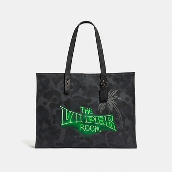 Image of Coach Australia  VIPER ROOM TOTE 42 WITH WILD BEAST PRINT
