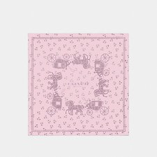 Image of Coach Australia BLOSSOM HORSE AND CARRIAGE SILK SQUARE SCARF