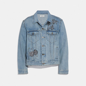 Image of Coach Australia  EMBELLISHED DENIM JACKET