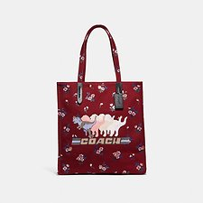 Image of Coach Australia V5/WINE TOTE WITH SHADOW REXY