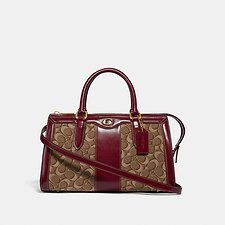Image of Coach Australia B4/TAN SCARLET BOND BAG IN SIGNATURE JACQUARD