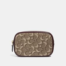 Image of Coach Australia B4/TAN SCARLET BELT BAG IN SIGNATURE JACQUARD