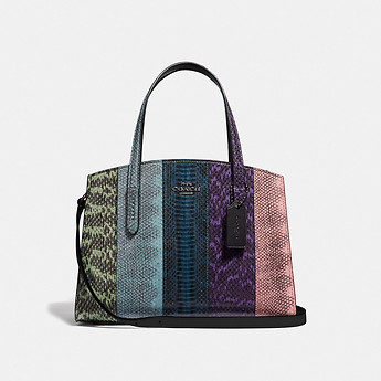 Image of Coach Australia  CHARLIE CARRYALL 28 IN OMBRE SNAKESKIN