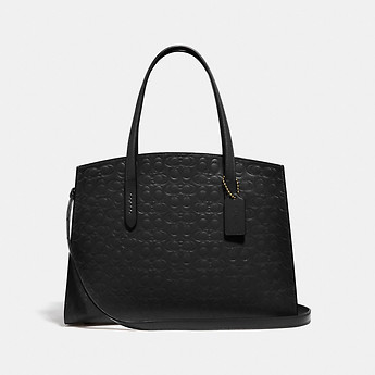 Image of Coach Australia  CHARLIE CARRYALL IN SIGNATURE LEATHER