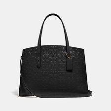Image of Coach Australia GD/BLACK CHARLIE CARRYALL IN SIGNATURE LEATHER