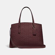 Image of Coach Australia GD/OXBLOOD CHARLIE CARRYALL IN SIGNATURE LEATHER