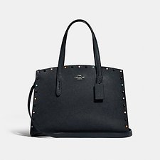 Image of Coach Australia GM/MIDNIGHT NAVY CHARLIE CARRYALL WITH RIVETS