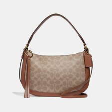 Image of Coach Australia B4/TAN RUST SUTTON CROSSBODY IN SIGNATURE CANVAS