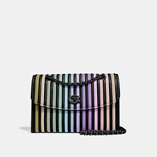 Image of Coach Australia GM/BLACK MULTI PARKER SHOULDER BAG WITH OMBRE QUILTING