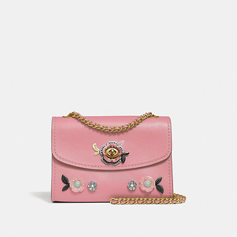 Image of Coach Australia  PARKER 18 WITH ALLOVER TEA ROSE STONES