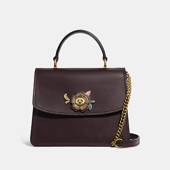 8761af2a8a66 Image of Coach Australia PARKER TOP HANDLE WITH TEA ROSE STONES
