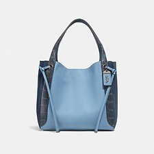 Image of Coach Australia V5/SLATE HARMONY HOBO IN COLORBLOCK WITH SNAKESKIN DETAIL