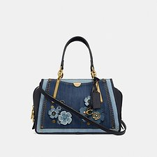 Image of Coach Australia B4/MEDIUM DENIM DREAMER WITH TEA ROSE