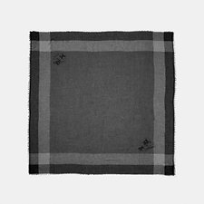 Image of Coach Australia BLACK/BLACK YEAR ROUND WINDOWPANE CHALLIS SCARF