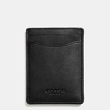 Image of Coach Australia BLK 3-IN-1 CARD CASE IN SPORT CALF LEATHER